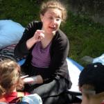 Chiara che racconta storie con una delle sue innumerevoli espressioni!