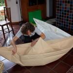 Provando a costruire barche di carta un po' grandi