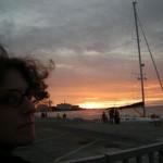 Chiara e il tramonto